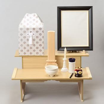 後飾り段 木製 2段(仏式)